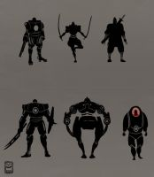 Misc Silhouettes by tokuku