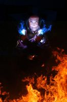 Cosplay: Azula Blue Flames by Risachantag