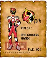 Aksaranger : Tim 1 : HA - Red Garuda by HKawamata