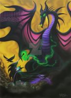 Maleficent and the Dragon by rAskopticon