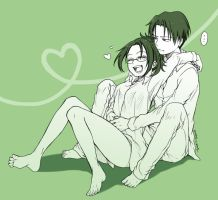 Rivaille x Hanji by MONO-Land