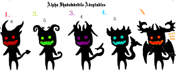 Alpha ShadowDevil Adoptables by BlackWolfHumanoid