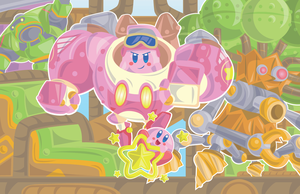 Kirby Print Series 1/7 - Patched Plains by OddPenguin