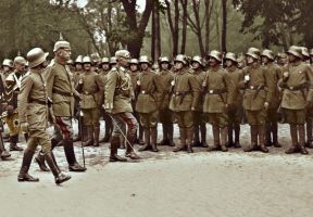 Wilhelm II inspects in Mitau by KraljAleksandar