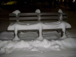 Snowy Bench-1 by Rubyfire14-Stock