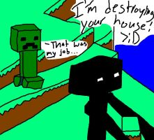 Enderman stole Creeper's job by 70J60