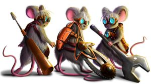 mechanic mice by Jack-Yattering
