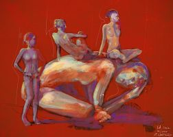 Figure lifedrawing session by fantasio
