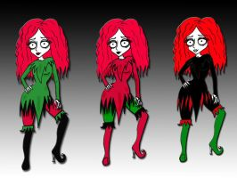 Me In Tim Burton's Style by FairyNaiad