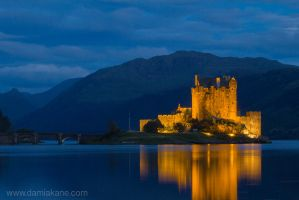 Eilean Donan at Night by DamianKane