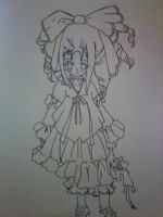 Lolita Ghost Doll Inked by Seras22
