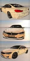 BMW M4 3D Wireframe by Artsoni3D