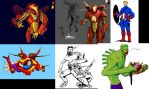 Speedgroup 13: WTFAvengers Sketches by turbofanatic