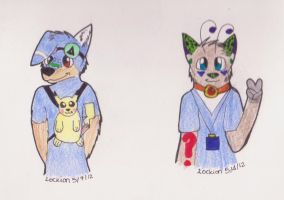 Cynid and Reskell badges by Lockian