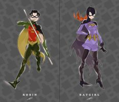 The Batman - Robin and Batgirl by xxxviciousxxx