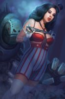 Monkey Wrench Wench by jhoneil