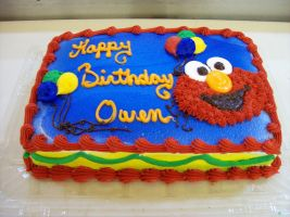Elmo cake by Nimhel