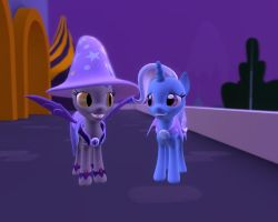 Trixie's Night with a Batpony by Soad24k