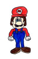 Bad picture of Mario by SonicClone