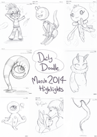 Daily Doodle 2014 - March Highlights by Electrical-Socket