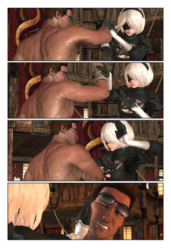 Battle Royale : Johnny Cage vs Yorha 2B pg007 by thePWA