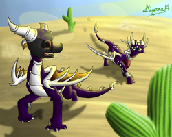 Commish: Walking in the desert by CartoonSilverFox