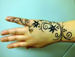 Henna right hand freehand design by JJShaver