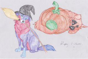 Halloween Puppy Adotables CLOSED by ForeverFallen16