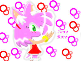 Basic Amy Rose - RINGS by Speed-Blue-Lazer