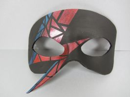 David Bowie stained glass inspired leather mask by maskedzone