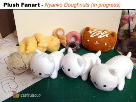 Fanart - Prototypes for Nyanko Doughnuts by catfruitcup