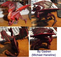 Fire Dragon Miniature by gadren