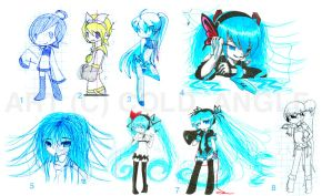 Lots of Miku by cold-angle