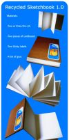LOW-COST Recycled Sketchbook by RDNicad