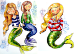 Mermaids in Sweaters by berrynerdy