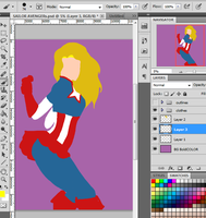 WIP CAPTAIN AMERICA PART2 by KMYash