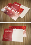 Christmas Covenant Church Postcard by loswl
