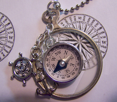 Monocle with Tiny Compass by mymysticgems