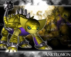 Ankylomon 3d by me by EAA123