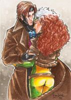 Commission: Rogue+Gambit PSC2 by skardash