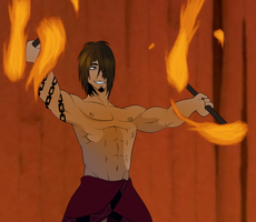 Leo with flaming torches by GiannisXD55