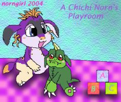 A Chichi Norns Playroom by norngirl