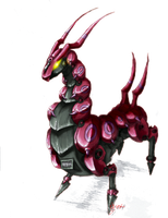 ZOID Scolipede -Colored- by BladeGunSniper