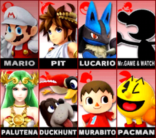My Smash Bros. 3DS Roster by GamefreakDX