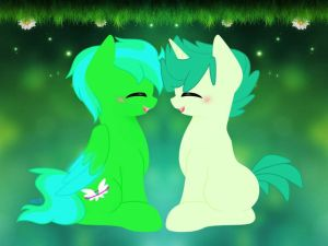 green ponies unite by mekeila13