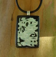 Snow Leopard Fused Glass by FusedElegance