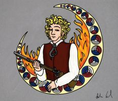 Mucha ABCs: Enjolras by RiderRRiddle