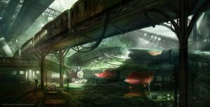 Train Graveyard by jordangrimmer