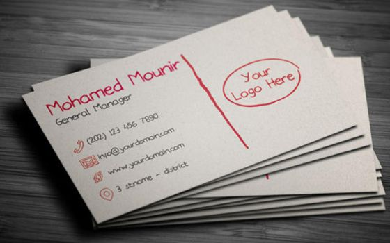 Sketchy Hand Written Business Card by mmounirf