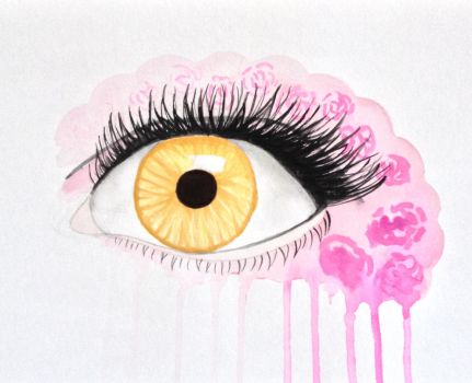 Eye Painting - Rose Splash by SinoraViolet